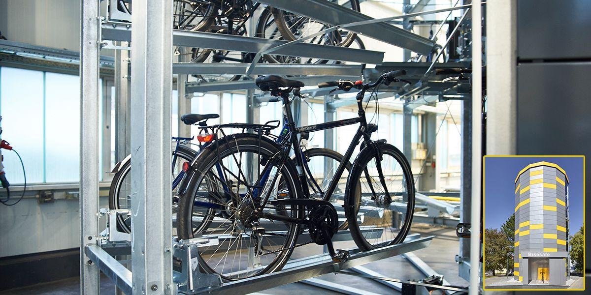 מתקן חניה אוטומטי לאופניים - BikeSafe