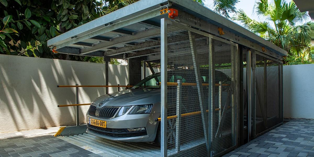 מתקן חניה סמוי Parklift 462 ברמת גן