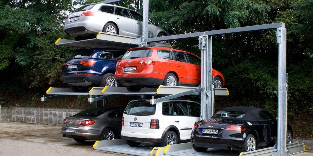 מתקן חניה Parklift 421 לחניית 3 רכבים